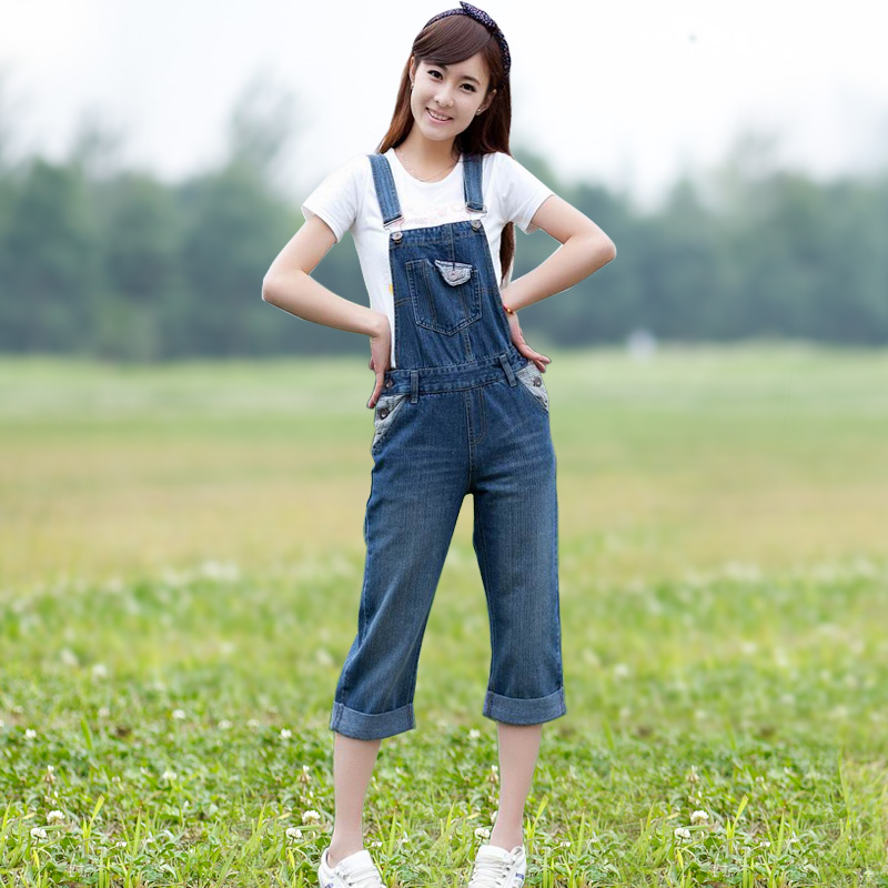 Здесь продается  Bib pants female loose 2015 one piece spaghetti strap casual ankle length trousers plus size  Одежда и аксессуары