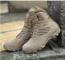 2015 Factory outlet Delta combat boots genuine leather men boots breathable canvas men shoes outdoor military boots size 39--45(China (Mainland))