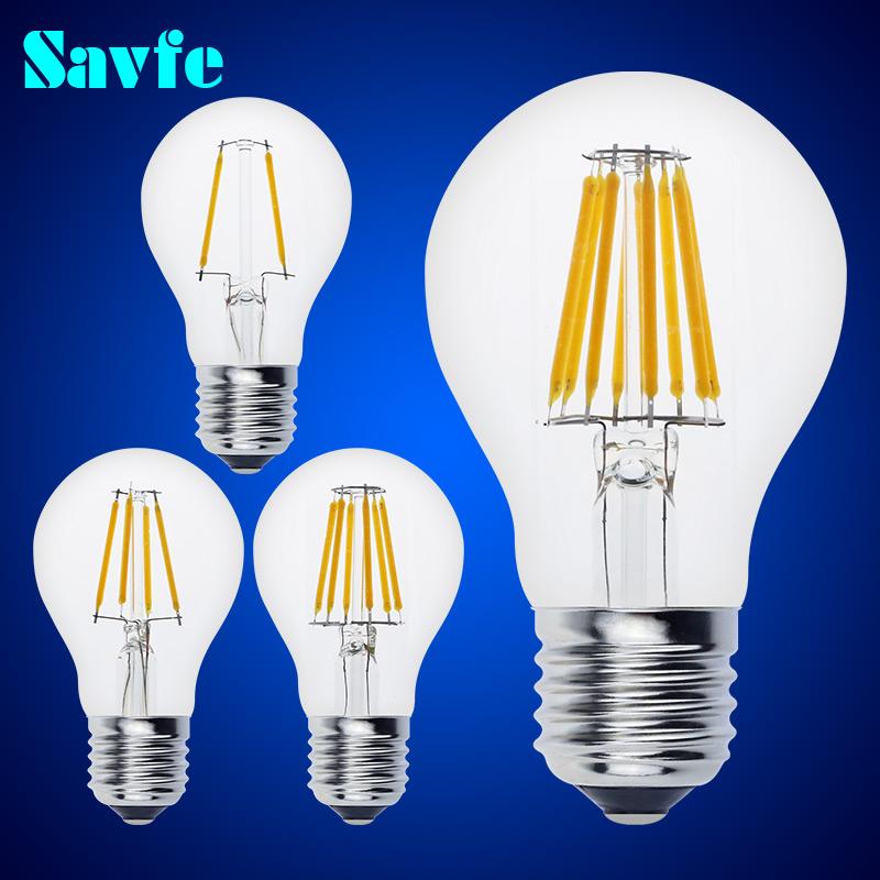 NEW E27 E14 Antique LED Edison Bulb 220V Retro LED Filament Light Vintage LED Candle Light Lamp 4W 8W 12W 16W LED Glass Bulb(China (Mainland))