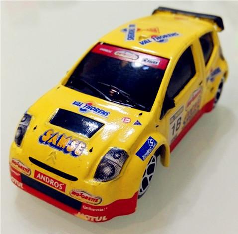 NO.1B YELLOW Citroen,1:64 Mini car model,rally racing alloy car model,car toys,WRC car Collection(China (Mainland))