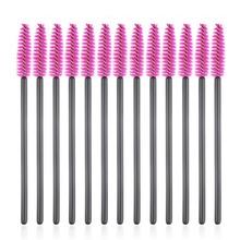 100pcs make up brush synthetic fiber Disposable Eyelash Brush Mascara Applicator Wand Brush Cosmetic Makeup Tool Pink Hot