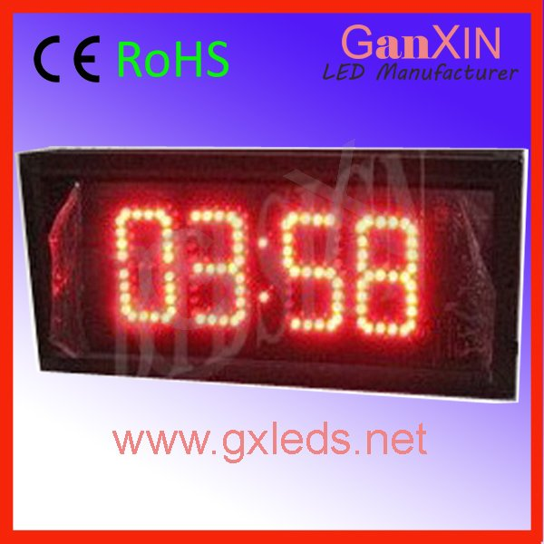 Red indoor aluminum frame high brightness digital clock small mini led digital clock(China (Mainland))