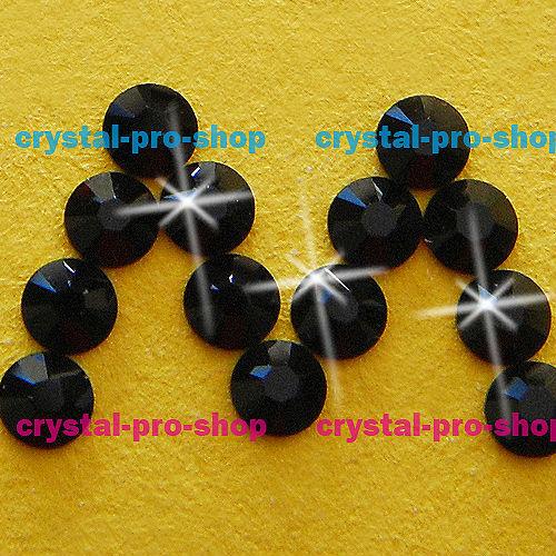 GENUINE Swarovski Elements ss6 Jet Black ( 280 )720 Iron on 6ss Hot-fix Flatback 2mm New Round art Crystal Hotfix rhinestones(Hong Kong)