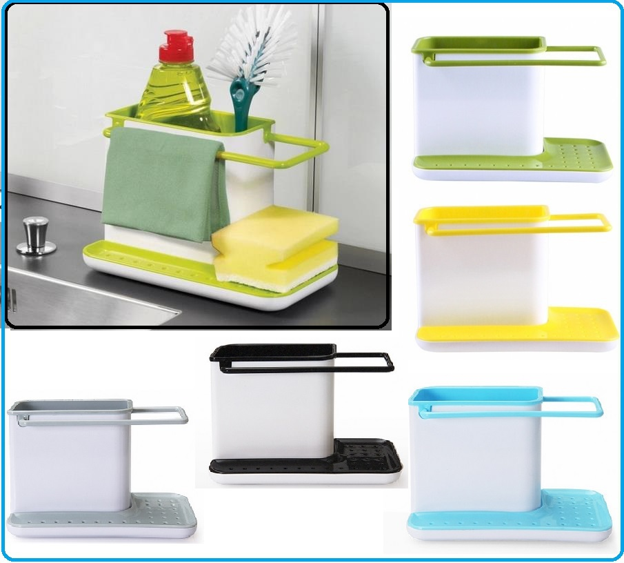 Kitchen Tool Rack Glove Storage 2015 New Design Hot Sale Double Candy Colors Plastic Shelfs Almacenamiento Kitchen Tool Rack(China (Mainland))