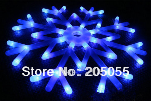 Snowflakes LED fairy String Light snow flake rope motif 40 bulb Indoor/Outdoor Christmas Xmas tree Decor Bracket lamp 220V-Blue(China (Mainland))