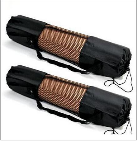 Hot sale yoga mat bag Mesh black backpack women bag 2015 new portable nylon pilates gym bag bolsa de deporte fitness yoga saco(China (Mainland))