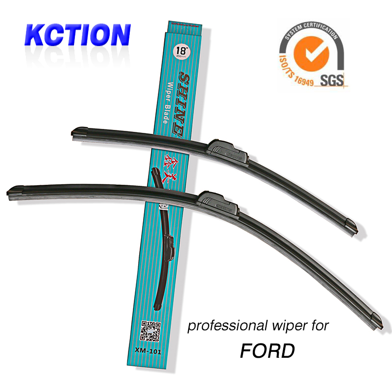 Car Windshield Wiper Blade For Ford All U type models,FIESTA MONDEO TOURNEO EDGE,Natural rubber, Bracketless,Car Accessories(China (Mainland))