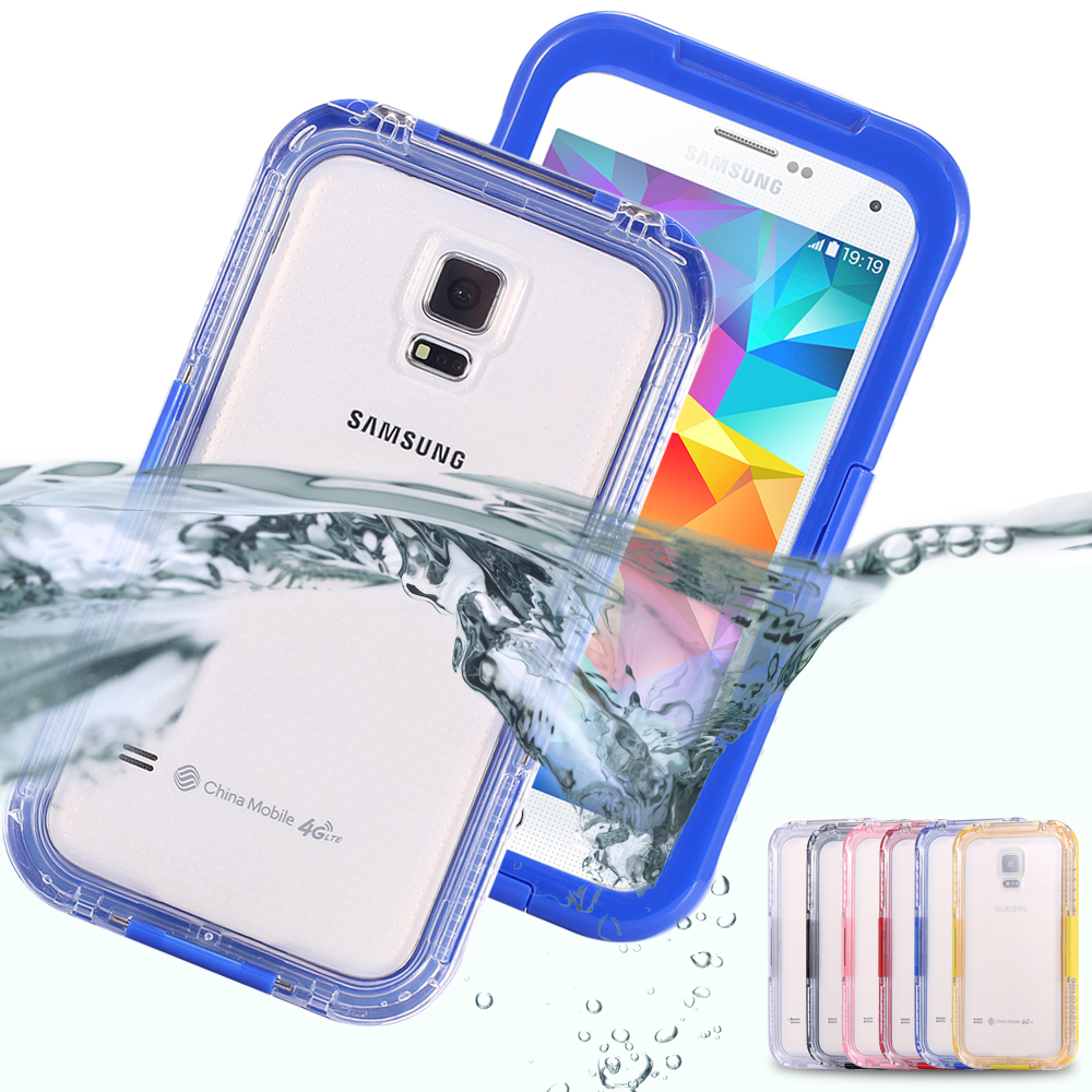 Waterproof Case Clear Swimming Cover for Samsung Galaxy S3 S4 S5 Case Transparent Phone Bags Pouch Summer Silicon Capa Coque(China (Mainland))
