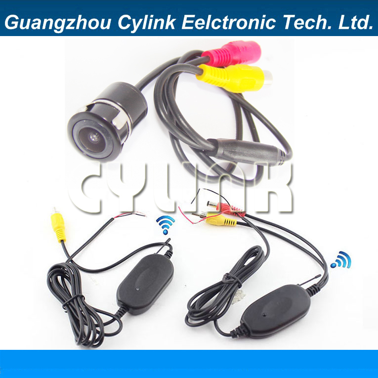 car wireless rearview camera system with 16.5 mm diameter universal drill camera and 2.4GHZ Transmitter and Receiver set(China (Mainland))
