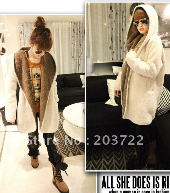 2012 Free shipping Fashion Women's Hoodie,Long Hoodie Coat