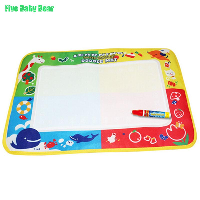 Baby Toys Kids Water Drawing Painting Writing Toys Doodle Aquadoodle Mat Magic Pens For Children Kids(China (Mainland))