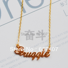 Letter necklace short design chain birthday gift female(China (Mainland))