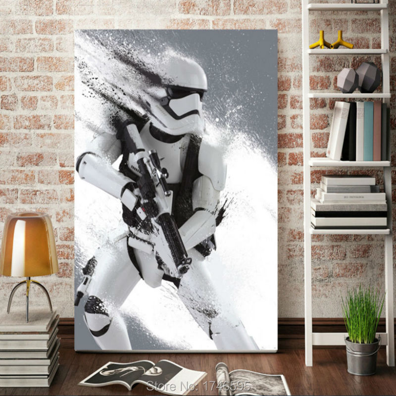 Print Stormtrooper Star Wars Movie film poster home decor wall art kids wall decor picture printed Painting on canvas art print(China (Mainland))