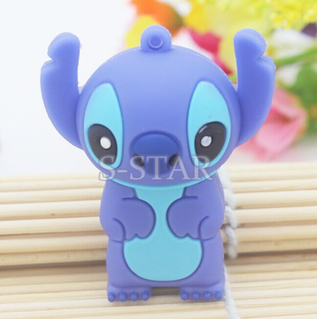 Free shipping Usb flash disk mini cute pen drive stitch animal gift pen drive 1gb 4GB 8GB 16GB 32GB dog cartoon usb flash drive(China (Mainland))
