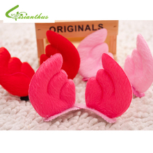 Pet Product Pet Accessories Dog Headdress Flower Dog Supplies Cute Fashionable Angel Bunny Hair Clips One Pair Free Shipping