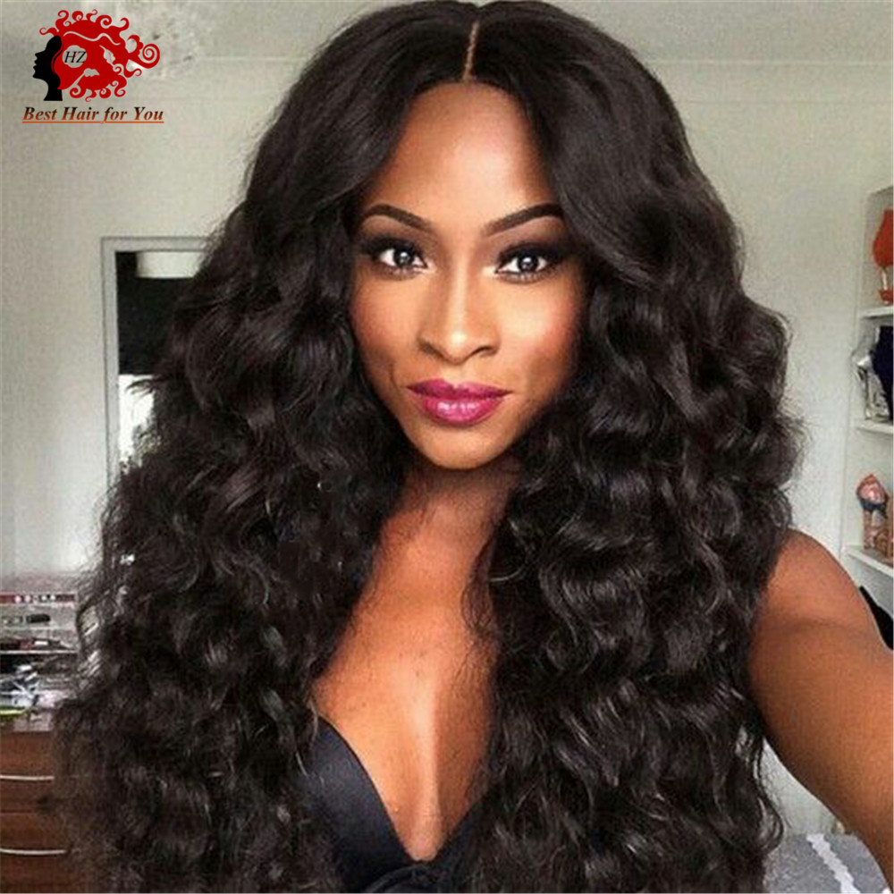 Malaysian virgin hair full lace wig natural curly black color 100% virgin human hair wigs Malaysian human hair extensions(China (Mainland))