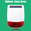 Free shipping 868MHZ wireless solar powered siren strobe siren for 7 inch X6 868MHZ alarm system