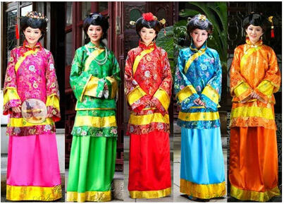 Bride clothing Chinese ancient costume women cosplay costume late qing dynasty young mistress wife women dance clothes(China (Mainland))