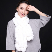 Winter for women design real rex rabbit fur scarf for with falbala shape fur scarves 2016 sale fashion female special offers(China (Mainland))