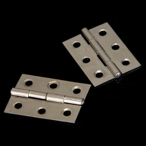 WSFS Hot Sale 2pcs Stainless Steel 2 Inch 4.4x3.1cm Cabinet Door Hinges Hardware Best Selling(China (Mainland))