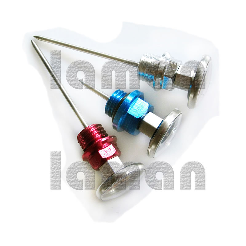 High quality Aluminum short Needle pin font b Motorcycle b font Oil Tank Dipstick oil modified