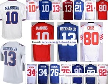 Red White Blue 10 Eli Manning 13 Odell Beckham Jr 21 Landon Collins 34 Vereen 80 Victor Cruz 82 Rueben Randle 76 Ereck Flowers(China (Mainland))