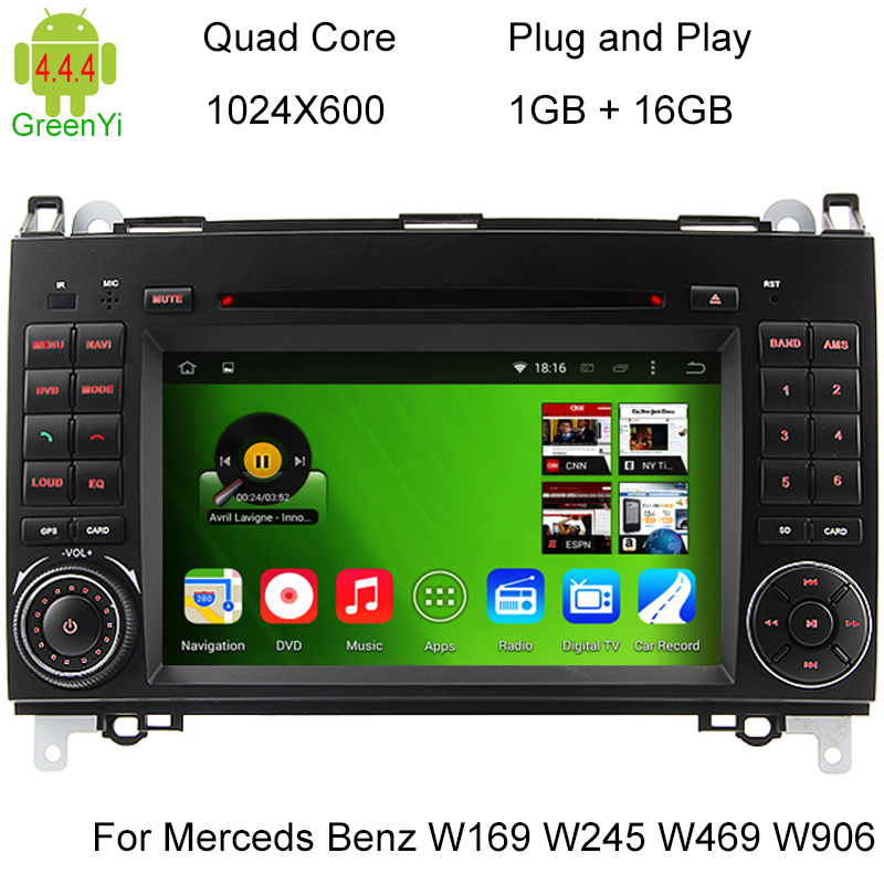 HD 1024*600 Pure Android 4.4 Car PC Video Player For Mercedes Benz W169 Viano Vito Sprinter With DVD GPS RDS WiFi(China (Mainland))