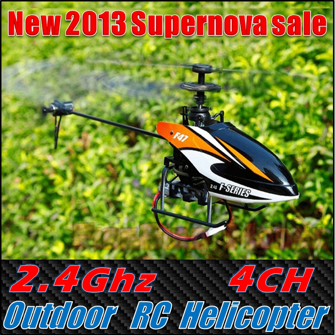 New Hornet 2.4Ghz 4CH Single Rotor Outdoor&amp;Indoor RC Helicopter toys With 2 Batteries , Free shipping<br><br>Aliexpress