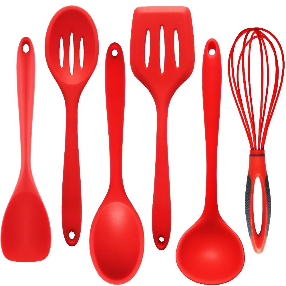 Cucharas de cocina utensilios compra lotes baratos de - Utensilios de cocina de silicona ...