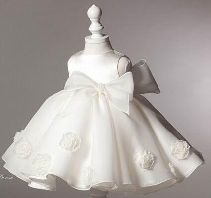 Скидки на Розничная 2016 Новая Девушка Свадебные Платья Лук Производительность Платье Цветочница Платье 2-8Y 2050