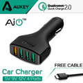 AUKEY 4 Ports QC2 0 USB Mini Quick Charger Fast Car Charger Adapter for Car for