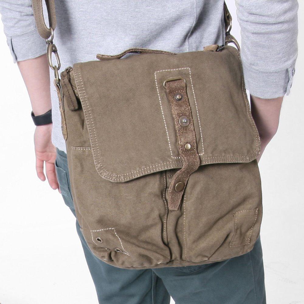6113 toile sac army green hommes de sac loisirs sac 100 coton bandouli re en toile sac. Black Bedroom Furniture Sets. Home Design Ideas