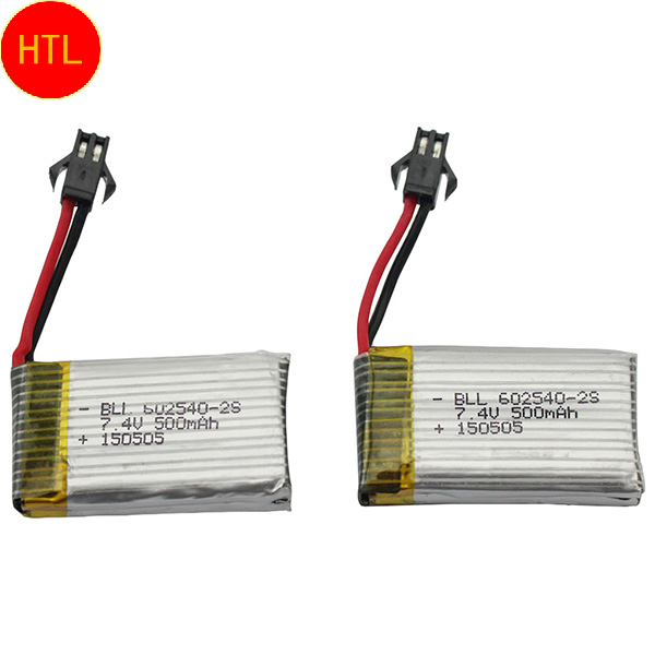 2pcs/lot Original Li on Lipo Battery 7.4V 500mAh 2S For JJRC H8C DFD F183 Rc Quadcopter Drone Helicopter Bateria Lipo(China (Mainland))