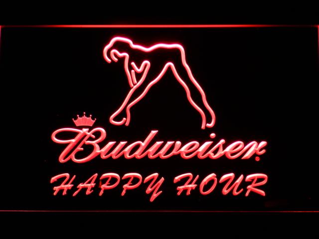 627 Budweiser Sexy Dancer Happy Hour Bar LED Neon Sign(China (Mainland))