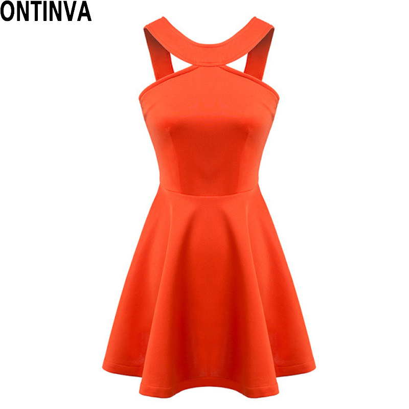 Space Cotton Mini Bandage dresses OFF Shoulder Halter dress 2016 Ruffle Ball Gown Orange Club Wear Ladies clothing(China (Mainland))
