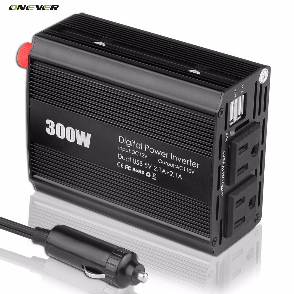 600W Peak Power Inverter 300W Modified sine wave Inverter 12V-110V 60HZ AC Modified sine wave Power Inverter Car Voltage Convert(China (Mainland))