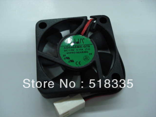 Free Shipping The new ADDA AD0405MX-G70 4010 4cm 5V DC 0.11A server inverter PC case cooling fan(China (Mainland))