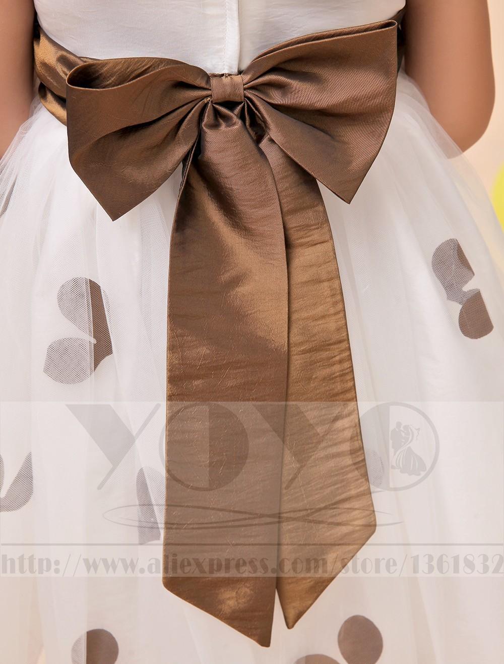 Скидки на Тюль платье-линии кот маленькие девочки платья с коричневый створки свадебные ну вечеринку дети девочки платья торжества платья