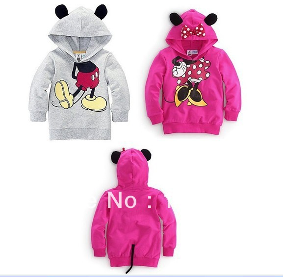 BIG SALE 2013 new Minnie Mickey mouse hoodies boys girls,Children Cartoon clothing ,red,gray fashion sweater baby wear - good baby's store