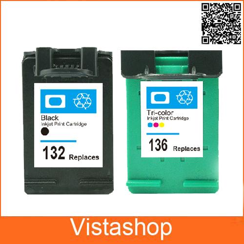 2 Pcs Compatible Ink Cartridges For HP 132 136 For HP132 136 Deskjet 5420 5420V 5440 5440XI Photosmart C3100 C3110 c3125 Printer<br><br>Aliexpress