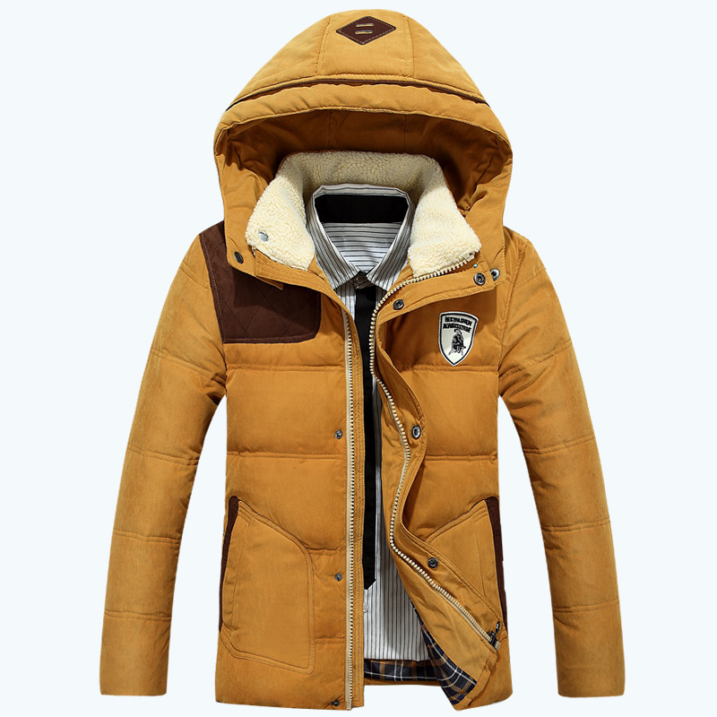2015 Winter Men's Down Jackets Coats Mens Fashion Thick Warm Hooded brand  jacket men Parkas for Men 95% White duck down(China (Mainland))