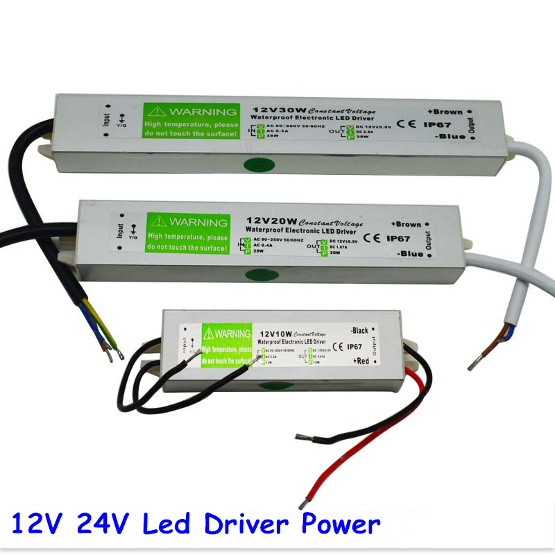 DC 12V 24V 30W Electronic LED Driver, IP67 Waterproof, Outdoor Lighting Equipment Dedicated Power Supply Transformers(China (Mainland))