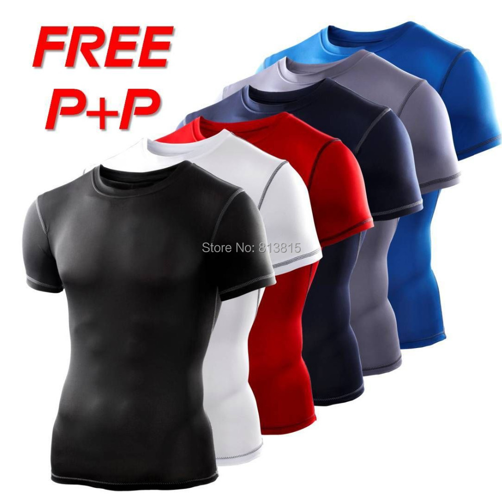 TP80 NEW S-XXL Men Sports Running T-Shirts Jerseys Compression Base Layers Under Tops Skins Gear Wear Tees Tops Sportswear New(China (Mainland))