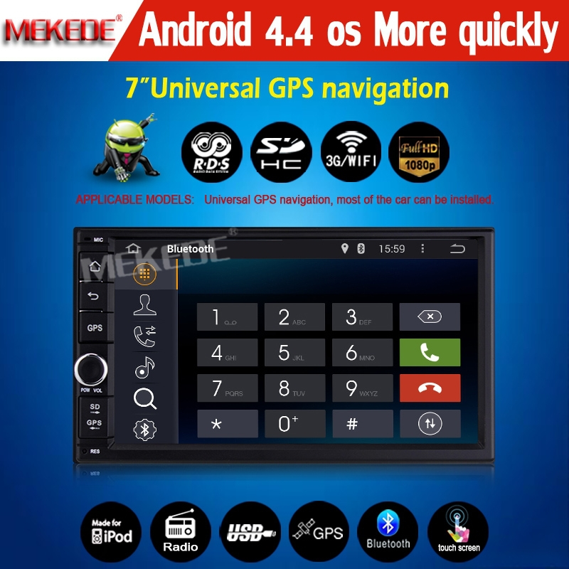 2015 new arrival! 7'' HD capacitive screen Android 4.4 Car GPS navigation player for 7'' universal car support 1024*600 pixel(China (Mainland))