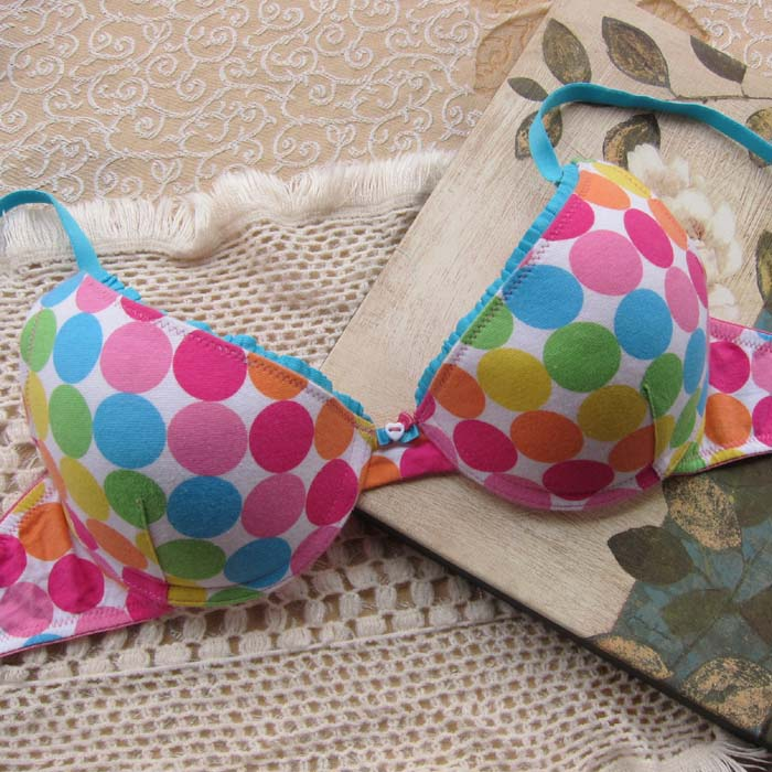 Multicolour g3 dot candy thick thin bra underwear
