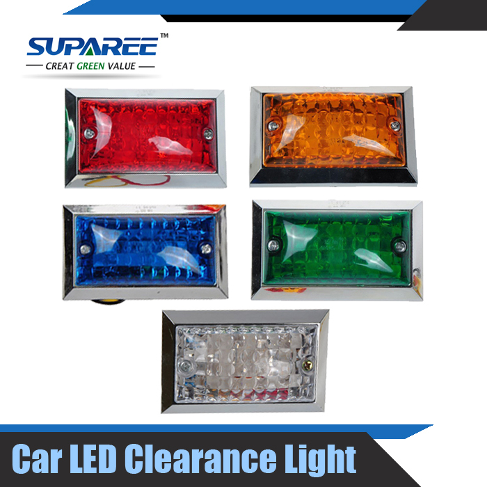 New 5pairs LED Side Marker Red Amber Green Blue White Car Truck Trailer Clearance Light 12V /24V For Different Color Choice(China (Mainland))