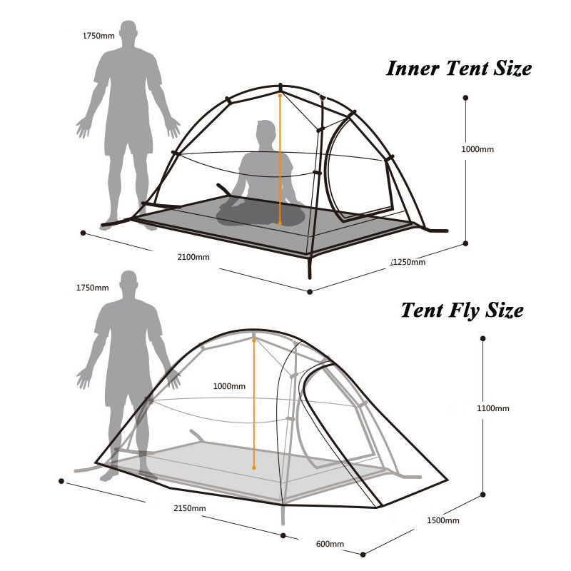 2016-New-Fashion-2-Person-Tent-20D-Silicone-Fabric-Tent-Double-layer-Camping-Tent-Lightweight-Tent (2)