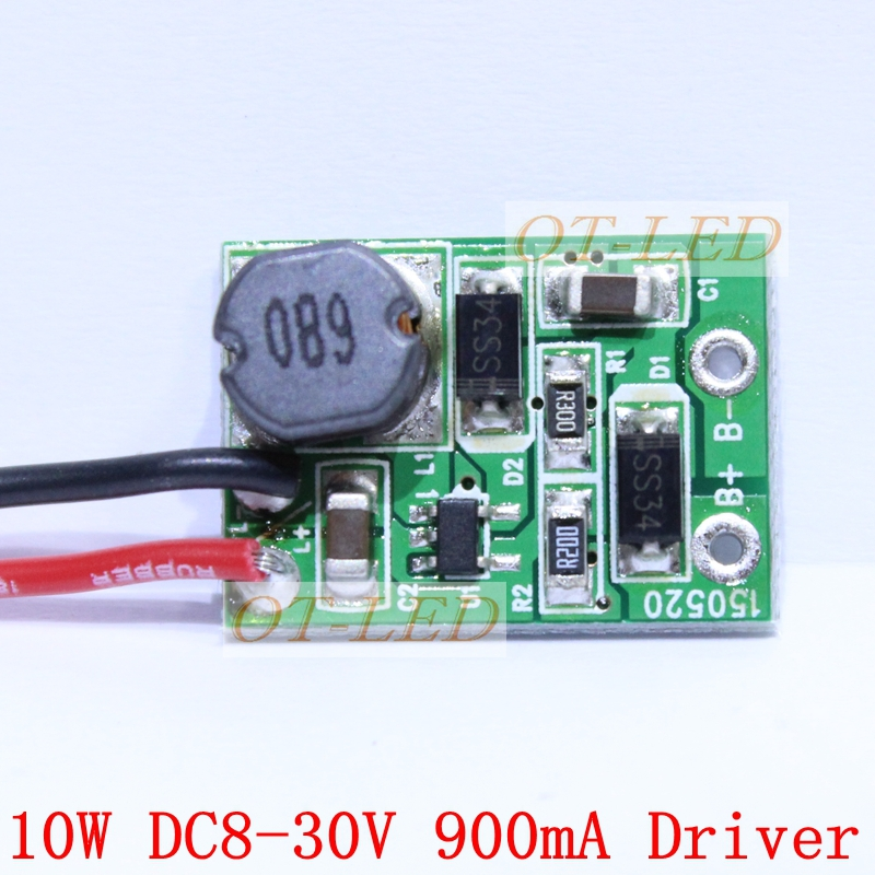 freeshipping!10pcs 12v 10w led driver for 3x3w 9 11v 600ma high10pcs 12v 24v 10w led driver for 3x3w 9 12v 900ma high power 10w led chip
