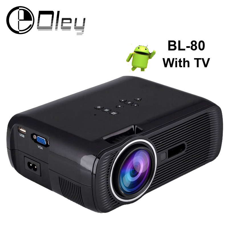 OLEY BL-80 1800Lumens Android 4.4 Blue tooth Portable Mini TV Projector Home Theater LED&LCD Projectors HDMI/USB/SD/VGA/AV(China (Mainland))