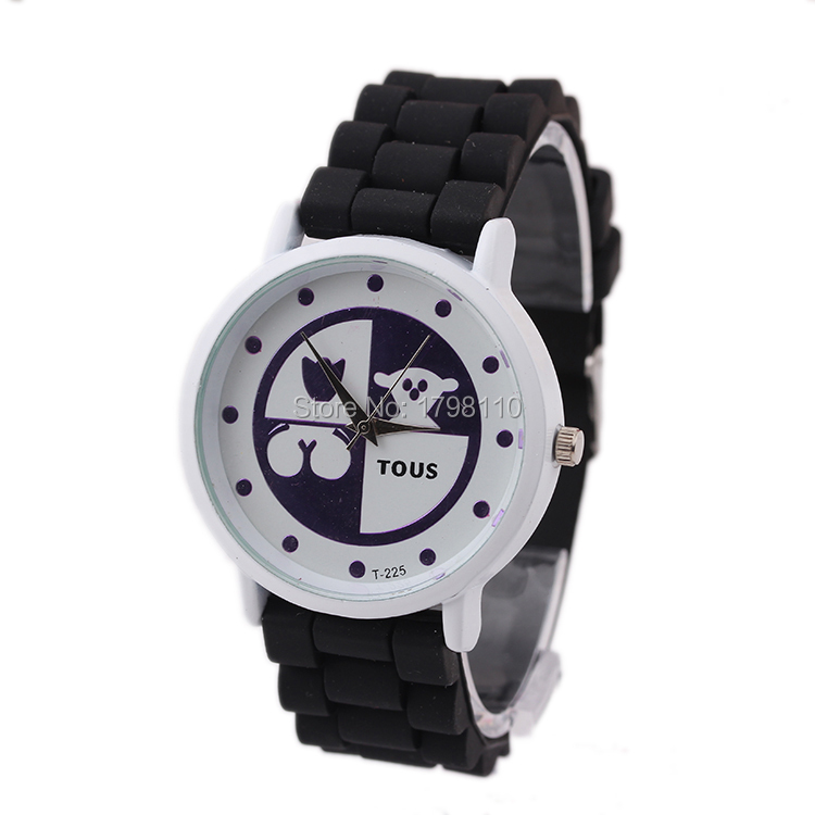 Free shipping Foreign trade sales multicolor cartoon silicone fashion lady ms blasting model series 0113 watches(China (Mainland))